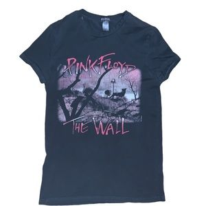 H&M Divided Unisex Pink Floyd Distressed Tee XS